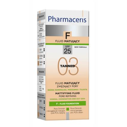 Pharmaceris F Pore refining  FLUID  SPF 25 03 TANNED